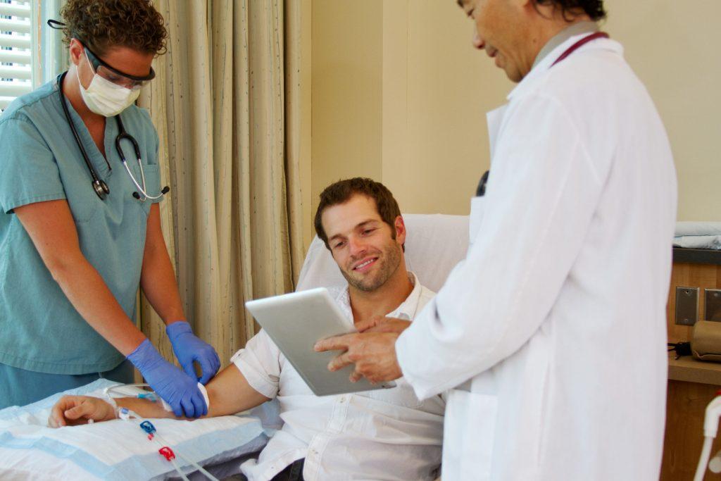 Patient en dialyse